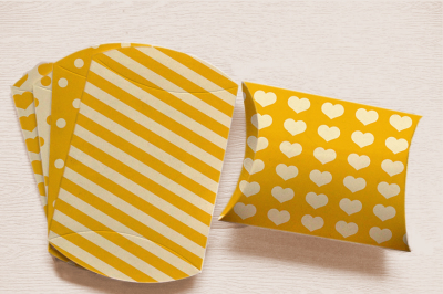 Yellow Printable Pillow Box