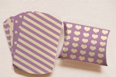 Lavender Pillow Box to Print