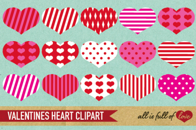 Red Pink Valentines heart Clip art
