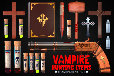 Vampire Hunting Items Collection