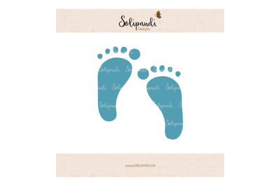 Kids Footprint SVG and DXF Cut Files