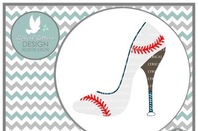 Baseball High Heel Shoe SVG DXF EPS AI JPG PNG