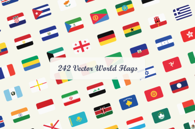 242 Vector World Flags