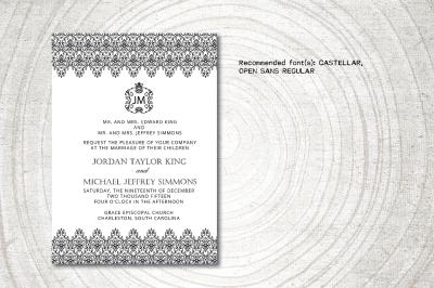 Royal Wedding Invitation template