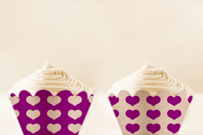 Purple Heart printable Cupcake Wrappers