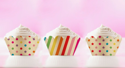 Rainbow Vintage Printable Cupcake Wrappers