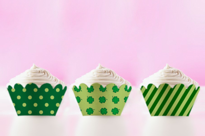 St Patrick's Day Printable Cupcake Wrappers