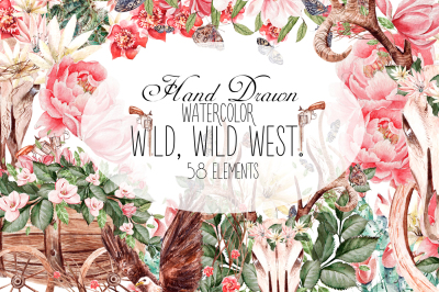 HandDrawnWatercolor WILD, WILD WEST!