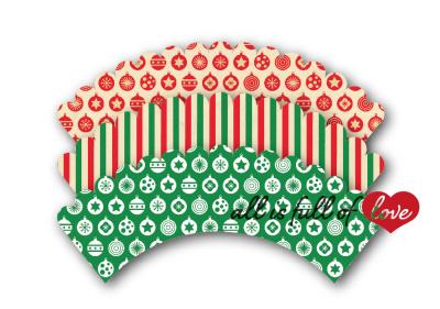 Christmas Printable cupcake wrappers