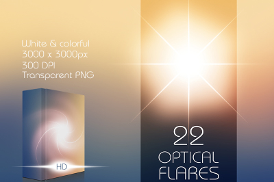 22 Hi-Res Optical Flares