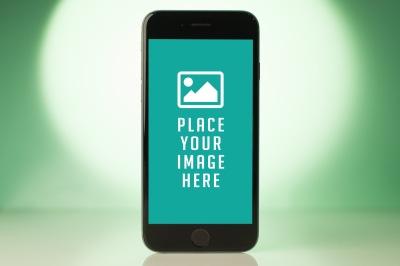 PSD Iphone 6 mockup on blur