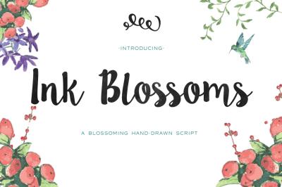 Ink Blossoms Handmade Script