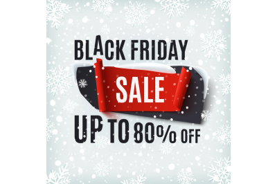 Black Friday winter background.