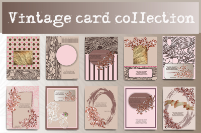 Vintage cards collection