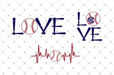 Baseball Love Cut Files