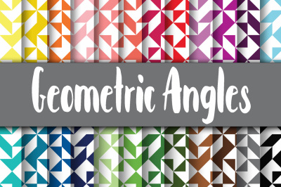 Geometric Angles Digital Papers