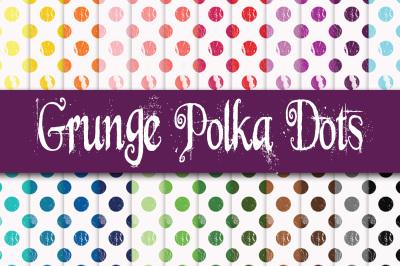 Grunge Polka Dots Digital Paper