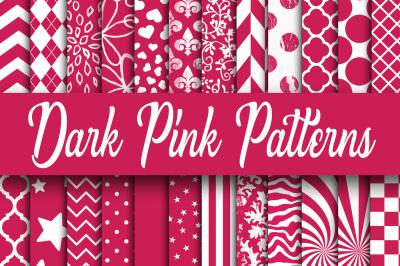 Dark Pink Patterns Digital Paper
