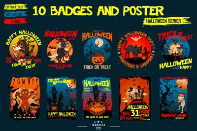 10 Badges & Poster