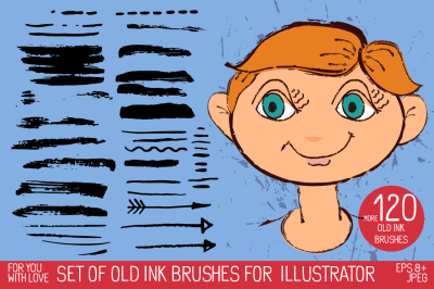 Grungy vector art and pattern brush