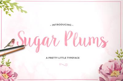 Sugar Plums Hand Drawn Script