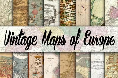 Vintage Maps of Europe Digital Paper