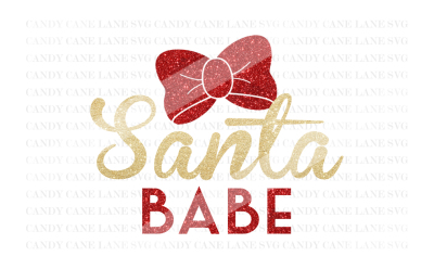 Christmas SVG Cutting File, Santa Babe SVG, Santa SVG, Cricut Cut File, Holiday SVG, Silhouette Cut File