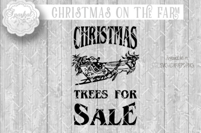 Christmas Tree Sale - SVG/EPS/DXF/PNG
