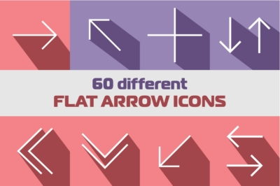 60 Different Flat Arrow Icons