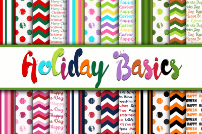 Holiday Basics Digital Paper