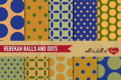 Army Balls and Dots Digital Paper Set