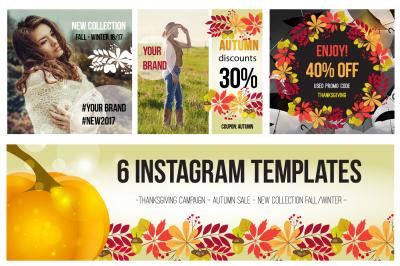 6 Instagram Templates