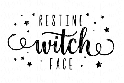 Resting Witch Face SVG Halloween Cutting File
