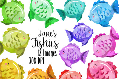Watercolor Fish Clipart