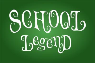 School Legend covered withinwonderland font Handcrafted craft letters