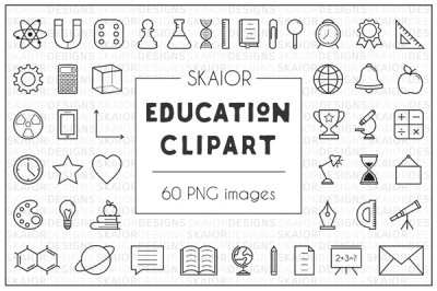 Back to School Education Clipart