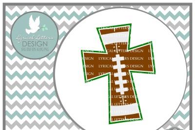 Football Cross Design SVG DXF EPS AI JPG PNG