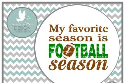 My Favorite Season is Football Season SVG DXF EPS AI JPG PNG