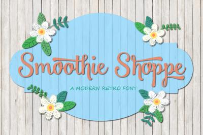 Smoothie Shoppe + Chalkboard Bonus