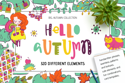 Hello Autumn! HandDrawn Elements Set
