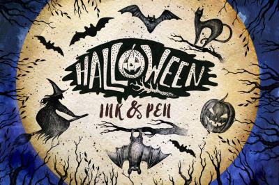 Halloween Ink & Pen Collection