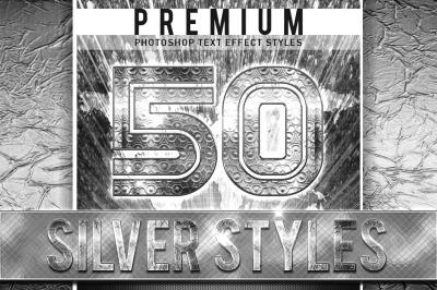 50 Silver Font Bundle