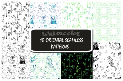 10 Hand Drawn Oriental Patterns