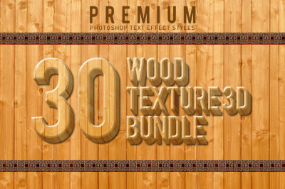 30 Wood Texture 3D Bundle