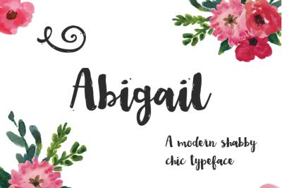Abigail Brush Script