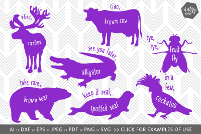 Animal Quote SVG Cut File - SVG, PNG, VECTOR & CLIPART Files