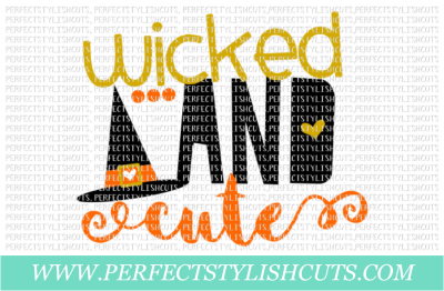 Wicked And Cute - SVG, EPS, DXF, PNG Files For Cutting Machines