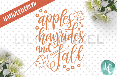 Apples Hayrides Fall / SVG PNG DXF