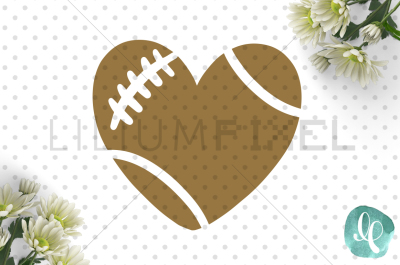 Football Heart / SVG PNG DXF