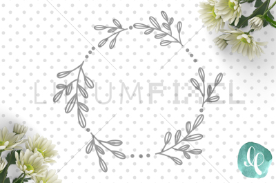 Fancy Leaf Wreath Monogram / SVG PNG DXF